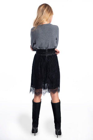 Patrizia Segreti lace mini skirt with metallic waistband