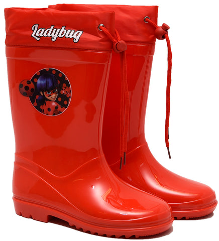 Miraculous red rainboots with drawstring