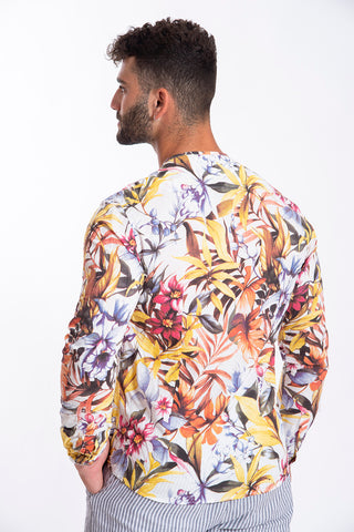 Paolo di Matteo extreme floral shirt top