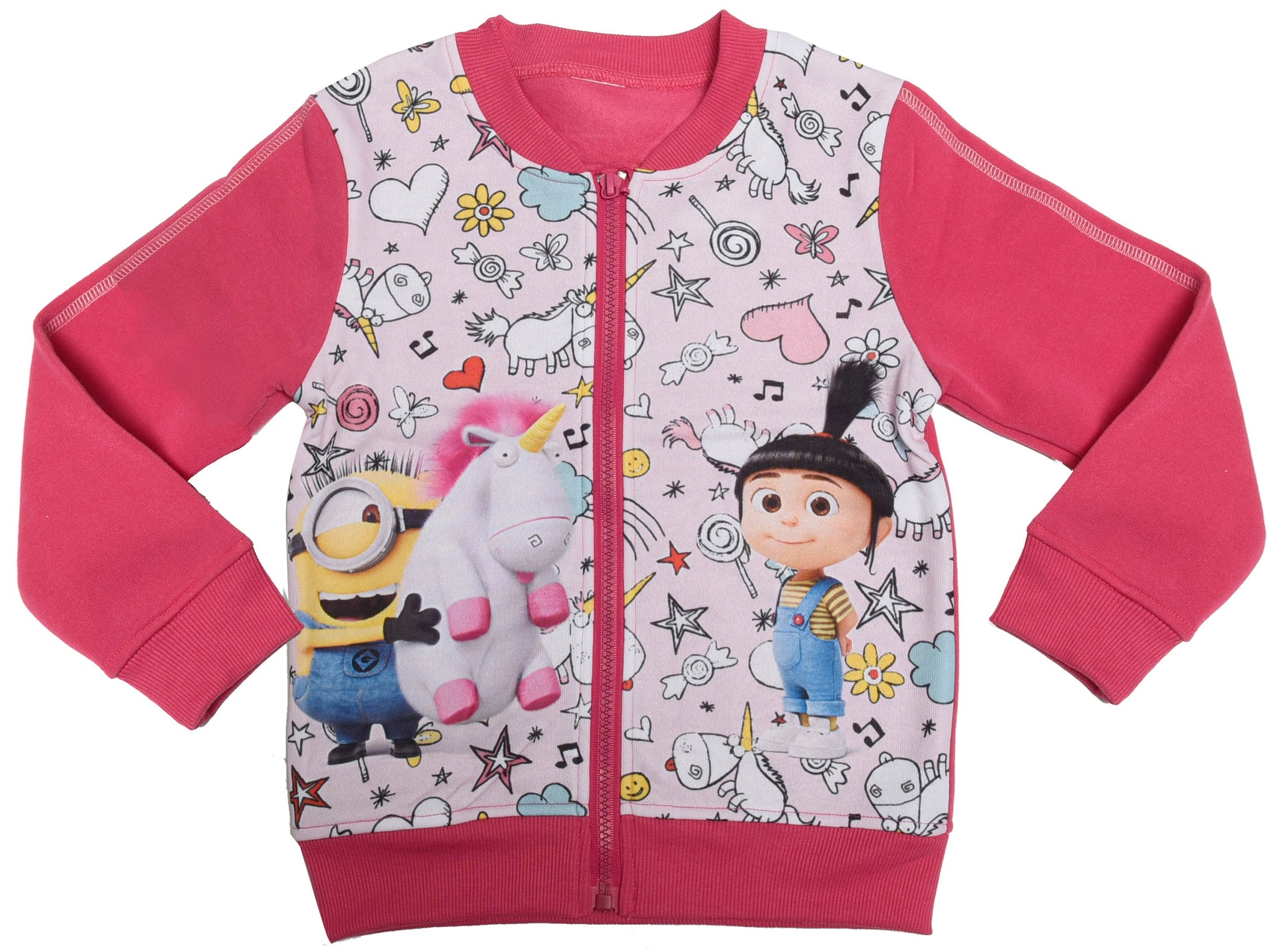 Minions Agnes and minions jumper with zip fastening