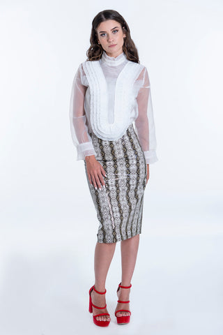 Various snake print pencil skirt