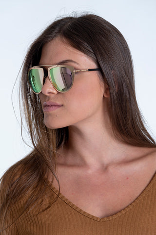 V Italia aviator mirror sunglasses