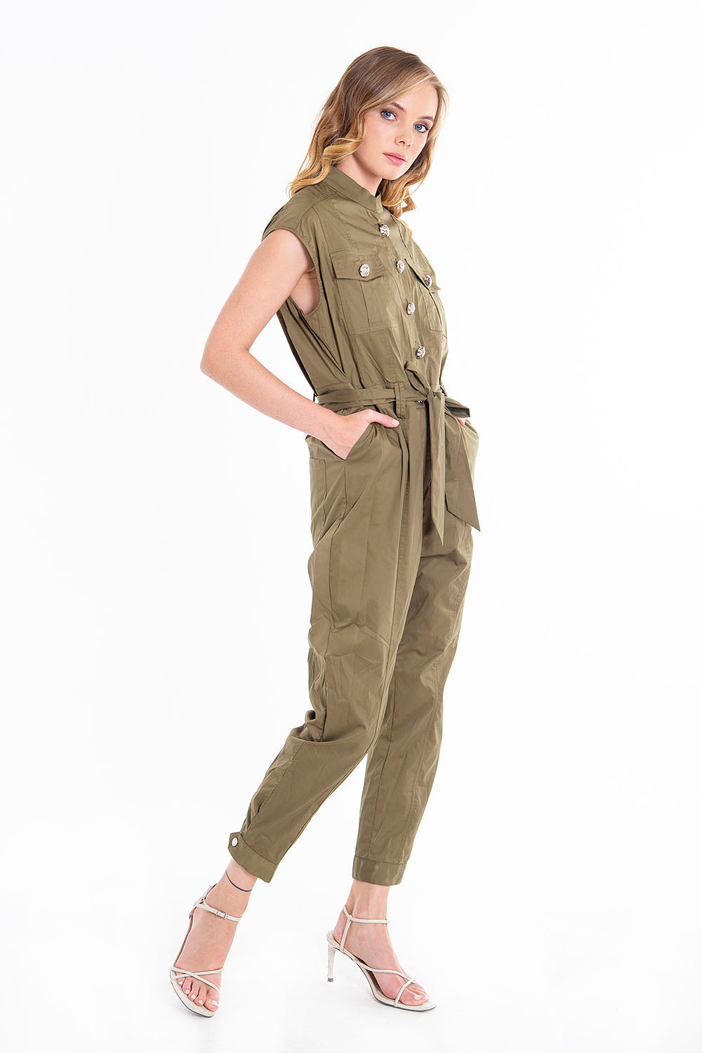 Trash and Luxury military jumpsuit with belt