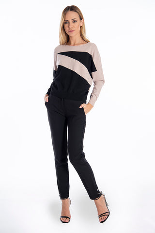 Patrizia Segreti thin metallic jumper in stripes