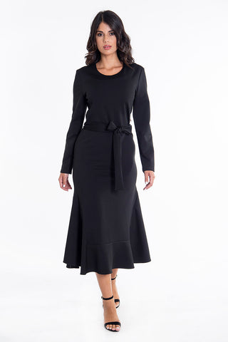 Teem the perfect feminine midi long sleeves dress