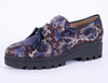 Pargiana chunky purple animal print tassel loafers
