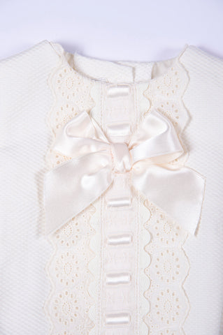 Dolce Petit lace and bow details bodysuit