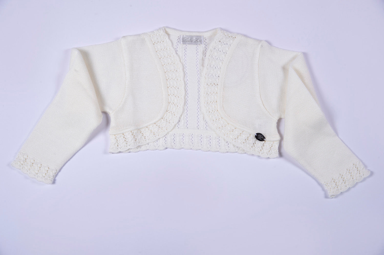 Dolce Petit open cardigan with lace details
