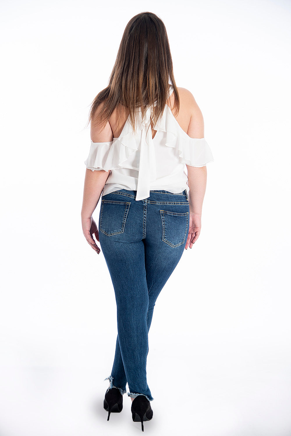 Goa Goa skinny jeans with vertical rip