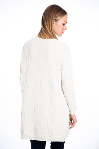 Patrizia Segreti long textured open cardigan
