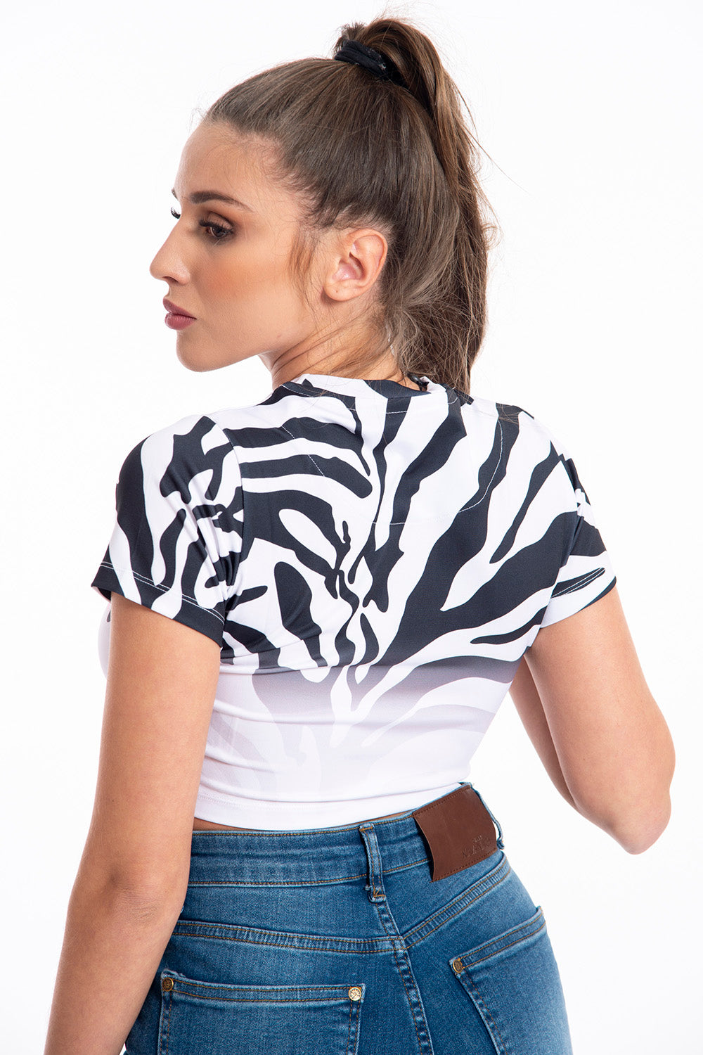 Kavanagh cropped zebra top
