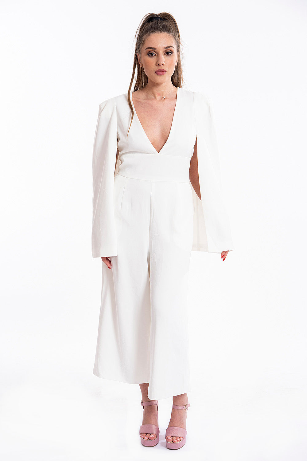 Lavish Alice caped culotte jumpsuit