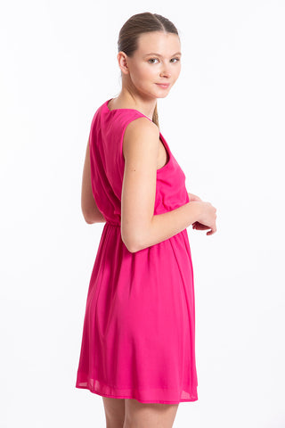 Akè pink mini sparkle neckline dress