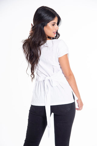 Akè fringe t-shirt with back bow