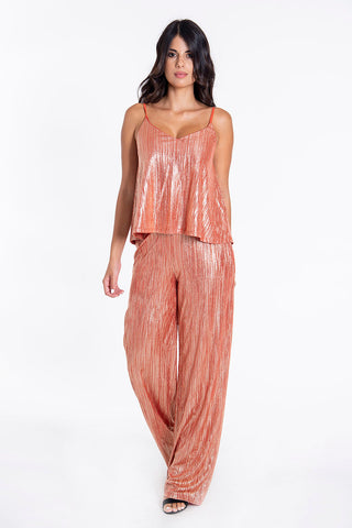 Akè metallic striped co-ord wide leg trousers
