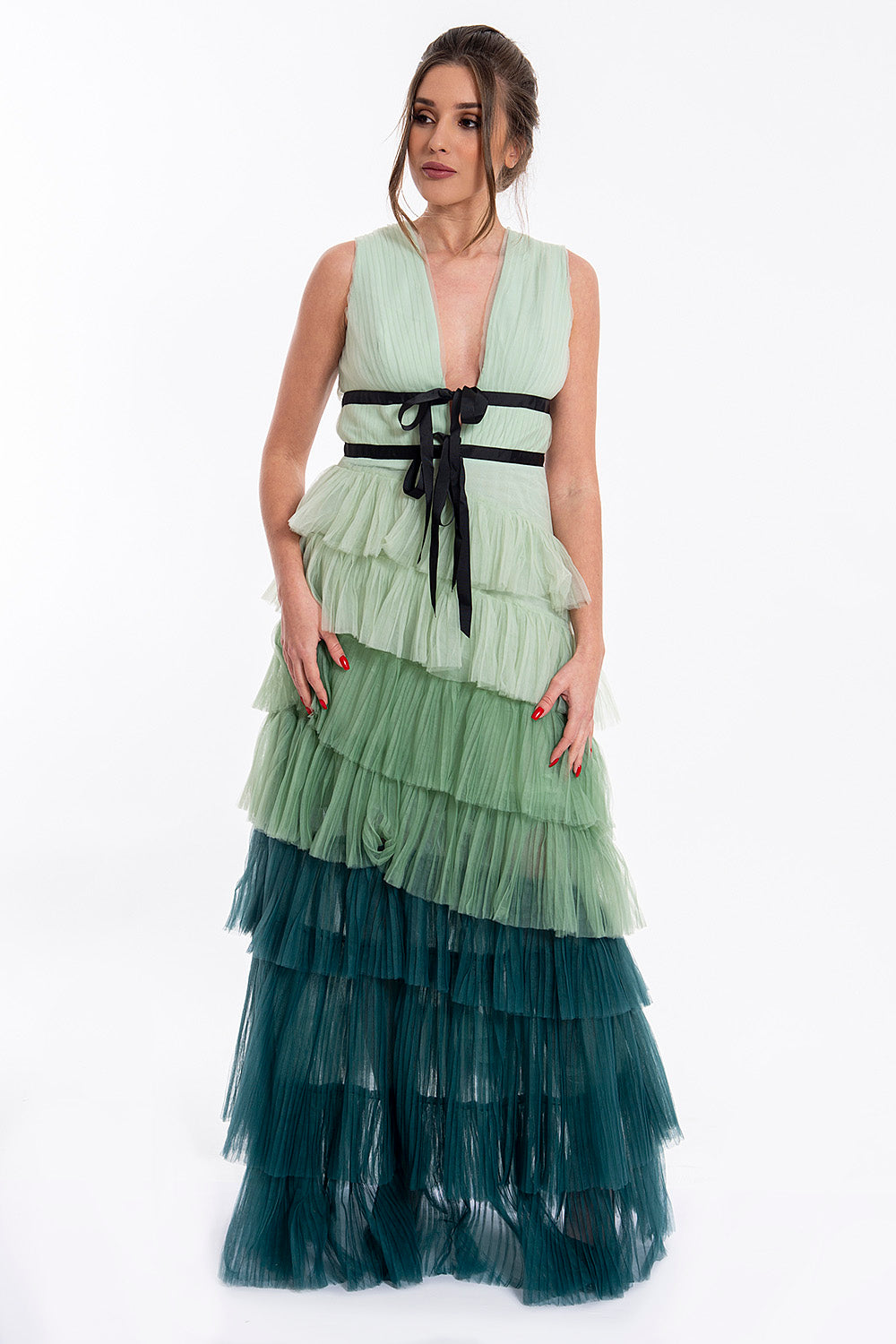 True Decadance ombre tulle maxi dress