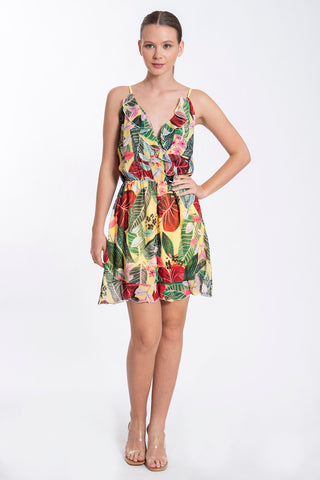 Akè floral ruffles dress