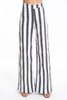 NúNu stripes grey and white in wide leg trousers