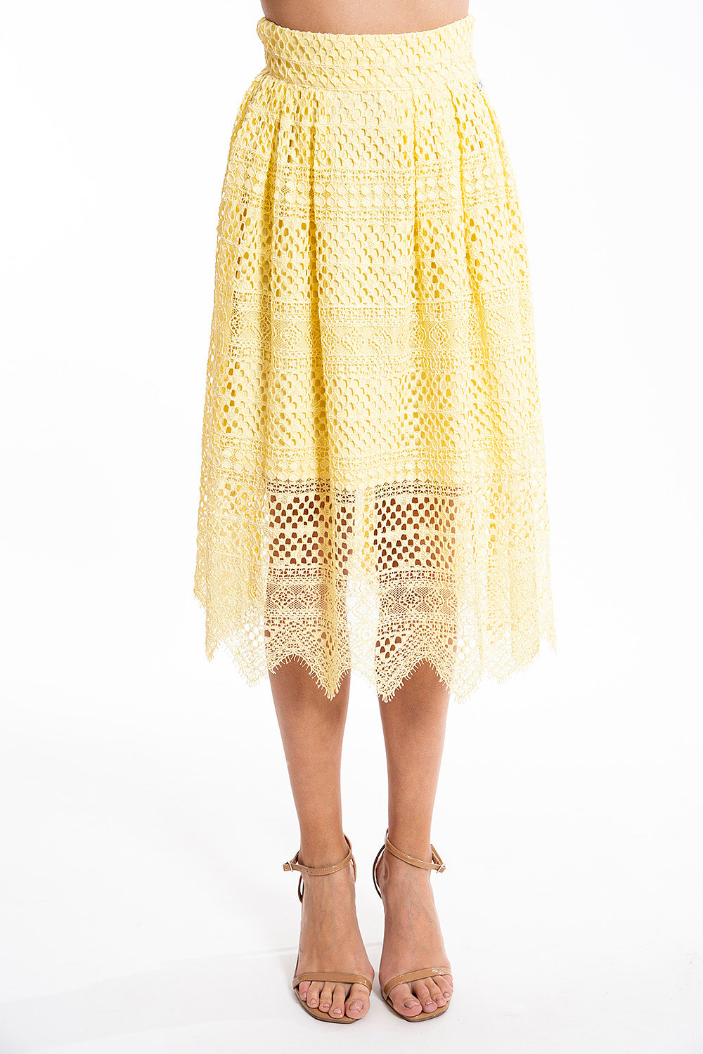 Josh V lace co-ord midi skirt