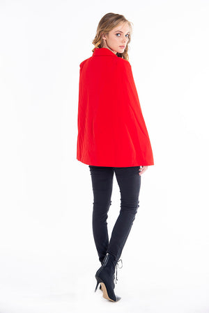 Attentif chic cape blazer with belt