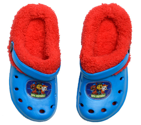 Paw Patrol clogs with inner fur