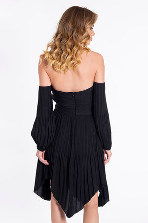 Glamorous boho bardot mini asymmetric dress