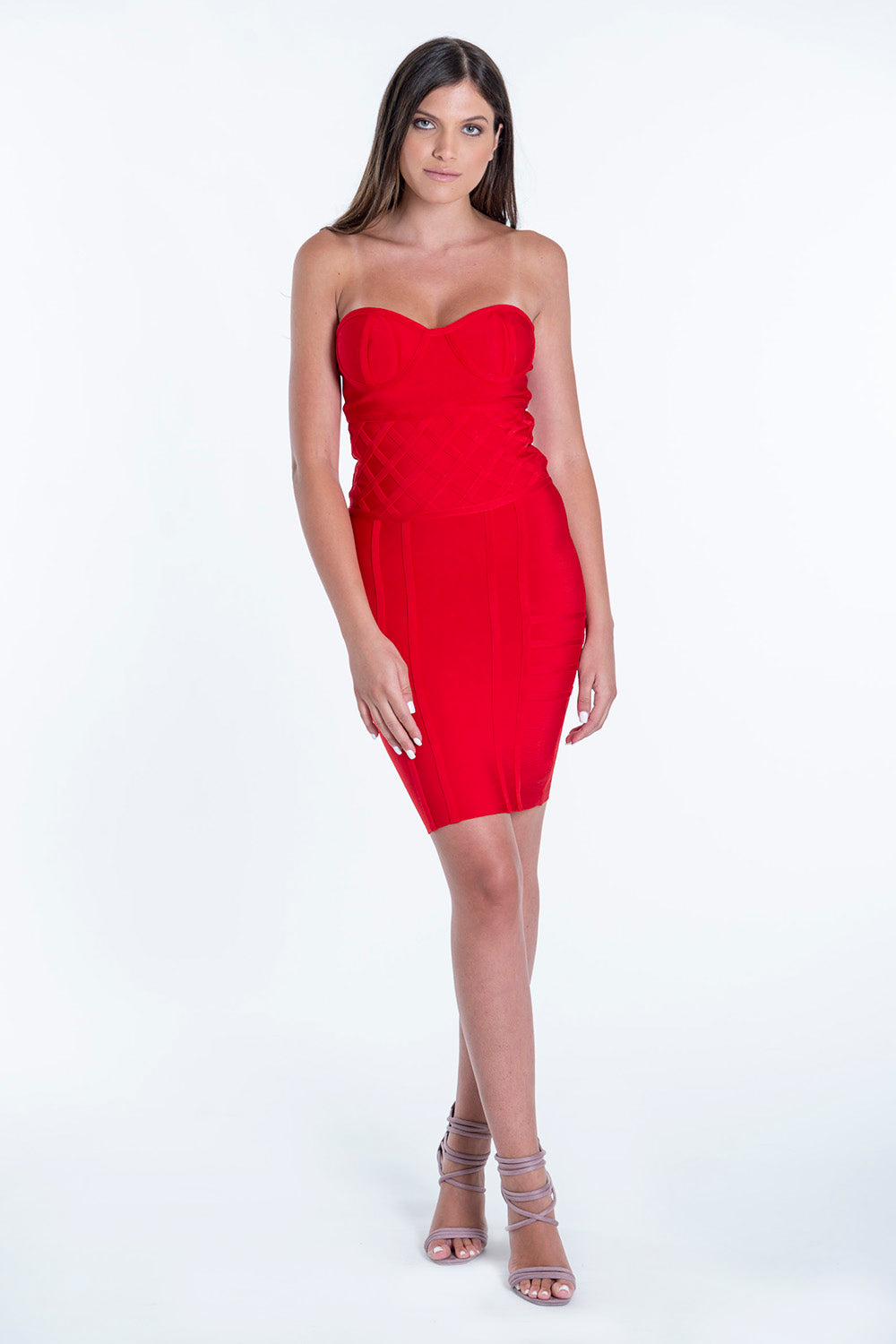 Bojo strapless bandage mini dress