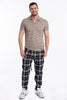 Gianni Lupo wide fit trousers in check pattern