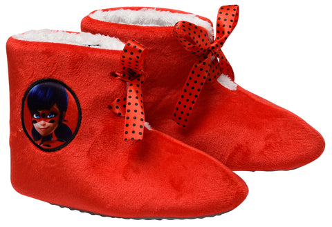Miraculous boots slippers with bow detail