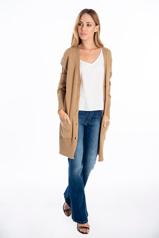 Infinity Knitwear long cardigan with front pockets