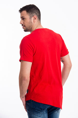 Basic t-shirt with front point