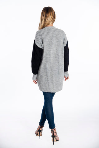 Infinity Knitwear oversized cardigan in colour block