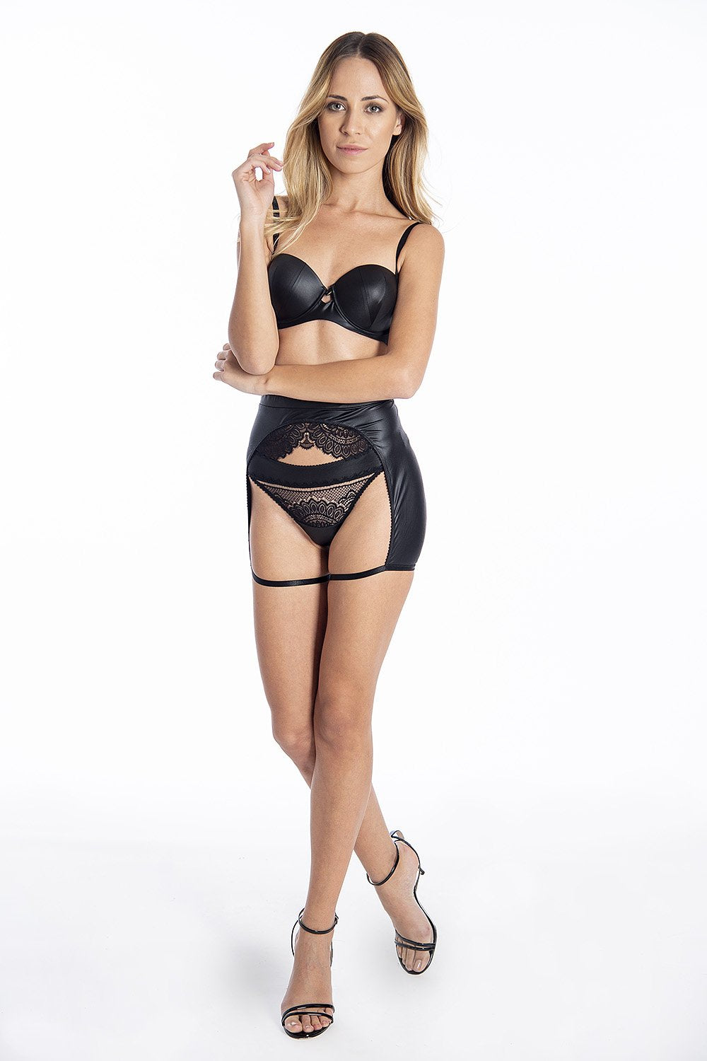 Jolidon soft thigh harness in black