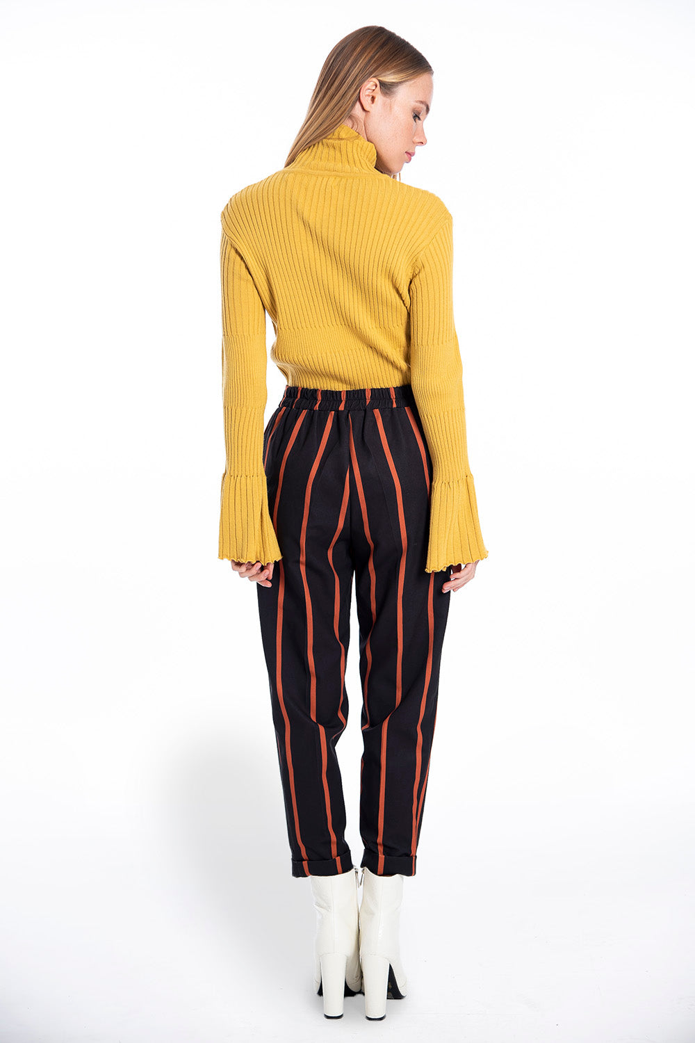 NúNu big striped paperbag trousers
