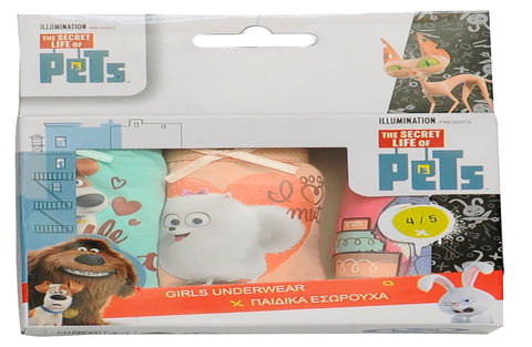The Secret Life of Pets pack of 3 girls slips
