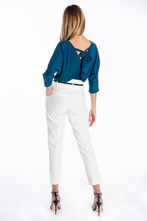 Patrizia Segreti long sleeves top with back tie