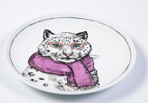 The cellar funny leopard plate