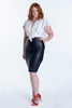 Bojo front leather pencil skirt