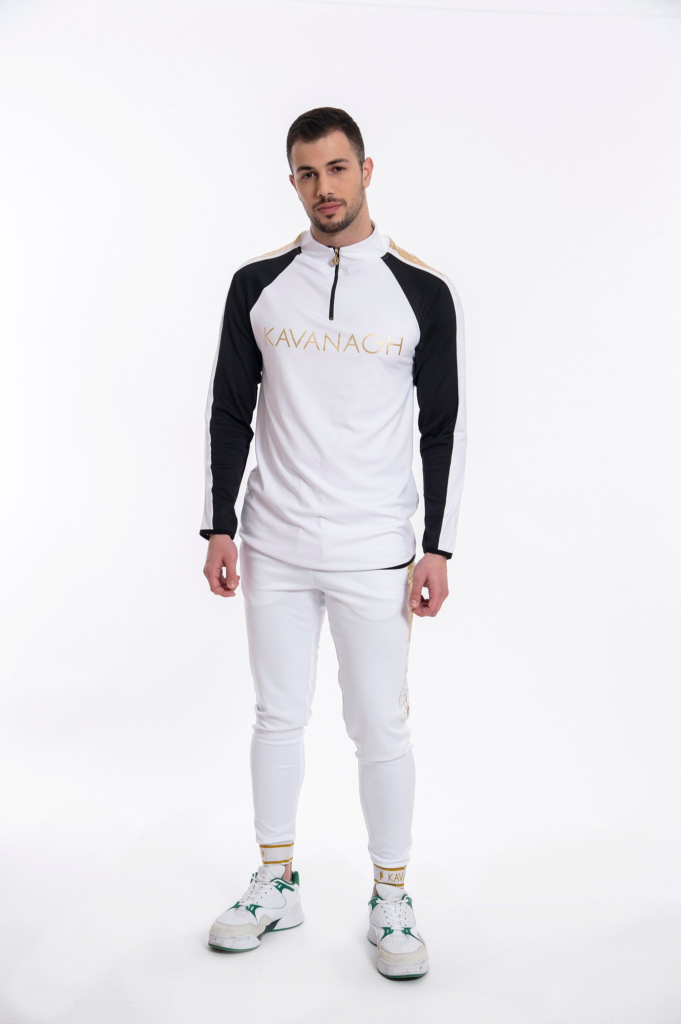 Kavanagh elasticated tracksuits with side stripe
