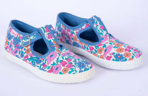 Cienta floral T-bar shoes
