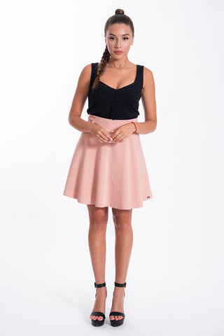 JoshV mini skater skirt with deco buttons