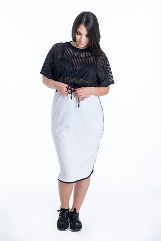 Disu high waist skirt with black trim