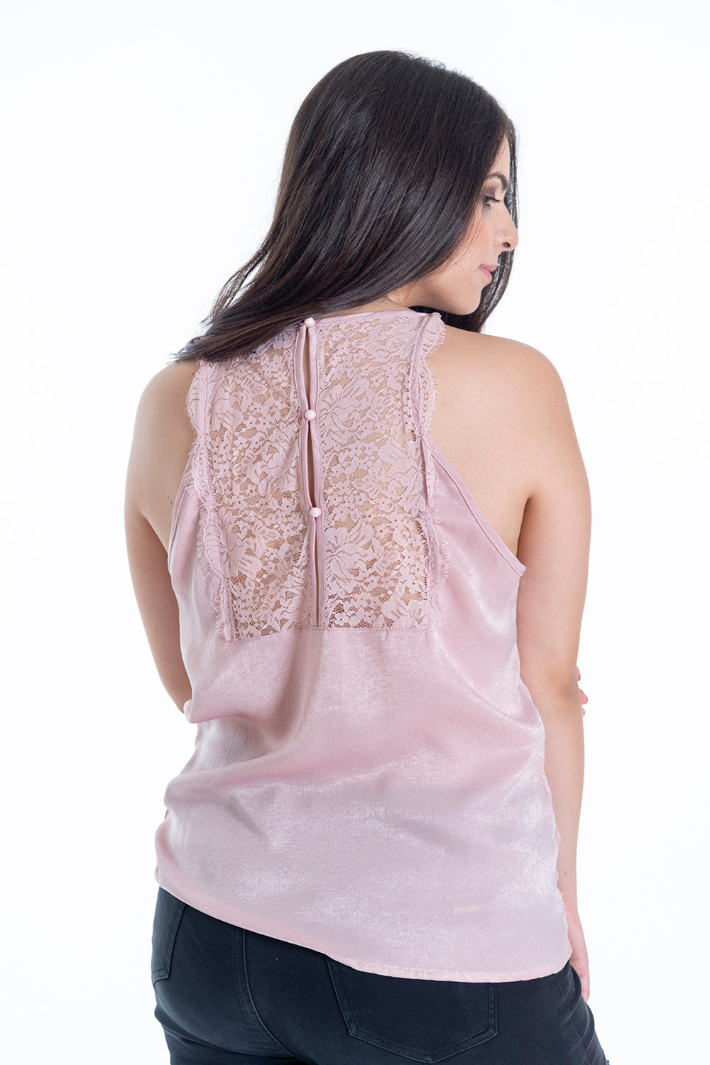 Attentif silk and lace cami top