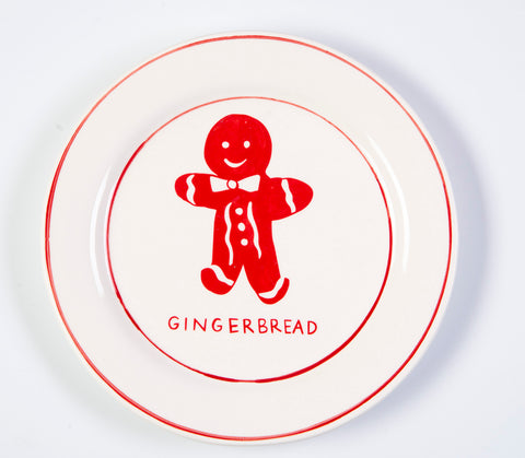 Molly Hatch festive gingerbread design small plates