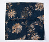 Bardwil linens set of 4 table napkins in royal blue with beige tone floral design