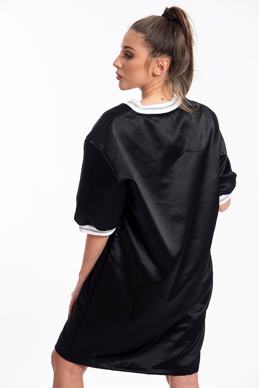 Comme des Fuckdown oversized mesh t-shirt dress
