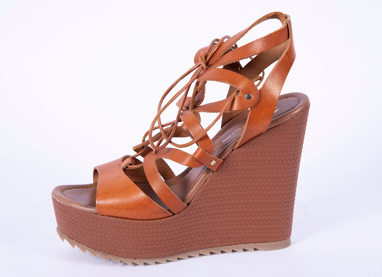 Mourtzi leather strappy platform shoes