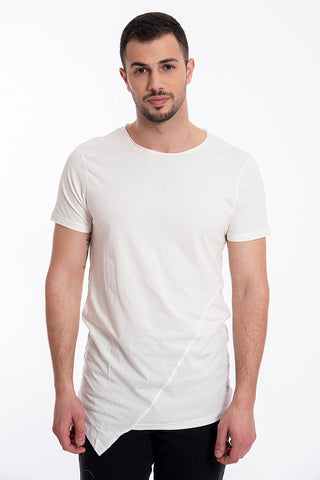 Plain t-shirt with front point
