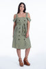 One by Cubic cute bardot dress with double buttons and belt