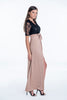 Bojo maxi dress with lace top with front split